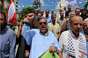Palestinians in Gaza Express Solidarity with Lebanon